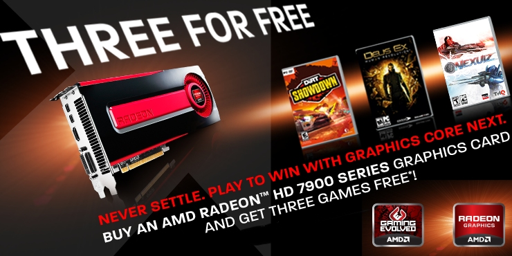 AMD 3 For Free Game Promotion On Radeon 7900 Graphics Cards