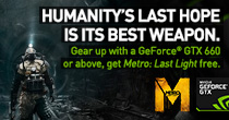 NVIDIA Gear Up With GTX & Claim Metro Last Light FREE!