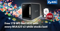 Zyxel NSA325  + Free 1TB Red