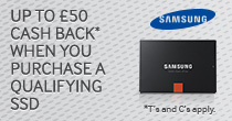 Claim Up To £50 Cashback on Selected Samsung SSDs