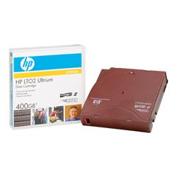 HP - LTO Ultrium 2 - 200 GB / 400 GB - red - storage media
