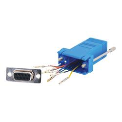C2G RJ45 to DB9 Female Modular Adapter - Blue
