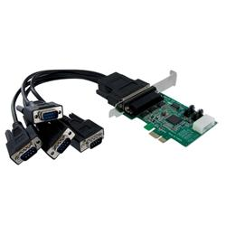StarTech.com 4 Port Native PCI Express RS232 Serial Adapter Card with 16950 UART