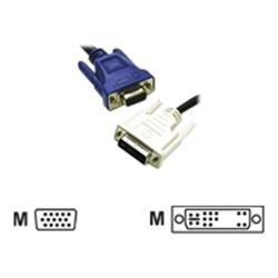C2G 1m DVI-A Male to HD15 VGA Male Analogue Video Cable