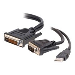 C2G 1m M1 to HD15 VGA + USB A Cable