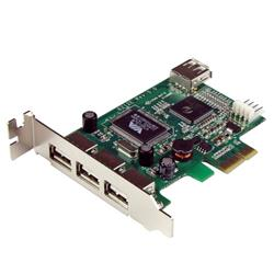 StarTech.com 4 Port PCI Express Low Profile High Speed USB Card
