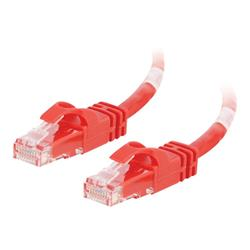 C2G .5m Cat6 550 MHz Snagless Crossover Cable - Red