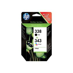 HP 338 Black/343 Tri-colour 2-pack Original Ink Cartridges