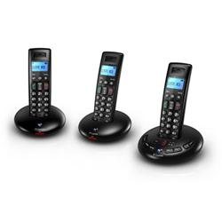 BT Graphite 2500 Trio Cordless Phone With Answer Machine