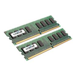 Crucial 8GB Kit (4GBx2) DDR2 667MHz (PC2-5300) CL5 Unbuff UDIMM 240P