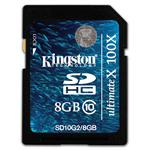 Kingston Ultimate X Flash memory card - 8 GB - Class 10 - 100x - SDHC