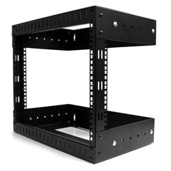 StarTech.com 8U Open Frame Wall Mount Equipment Rack - Adjustable Depth