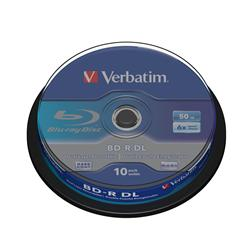 Verbatim 50GB Blu-Ray BD-R DL (6x) 10 Pack Spindle