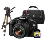 Canon EOS 1100D Kit - with 18-55mm Lens, Tripod, SLR Bag & 8GB SD Card