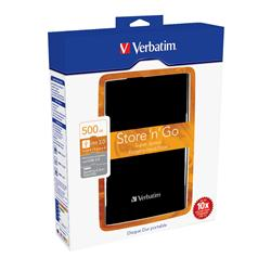 "Verbatim 500GB Store-n-Go  USB 3.0 2.5"" Portable Hard Drive Black"