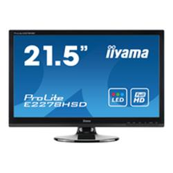 "iiyama E2278HSD 22"" LED 1920x1080 5ms VGA DVI Black Monitor with Speakers"