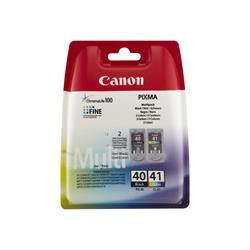 Canon PG 40 / CL-41 Multi Pack - Ink tank - 1 x black, colour (cyan, magenta, yellow) - for PIXMA