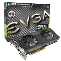 EVGA GeForce GTX 660 Ti 1046MHz 2GB PCI-E 3.0 HDMI FTW Signature 2