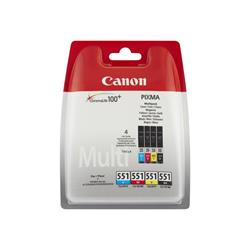 Canon CLI-551 Multipack Ink (Black/Yellow/Cyan/Magenta)