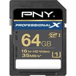 PNY Professional X - 64 GB - Flash memory card - UHS Class 1 - SDXC UHS-I