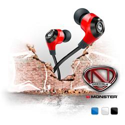 Monster NCredible NErgy In-Ear Headphones - Cherry Red
