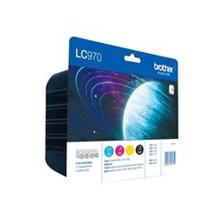 Brother LC970 Black/Cyan/Magenta/Yellow Value Pack