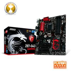 MSI Z87-G43-GAMING S1150 Intel Z87 DDR3 ATX