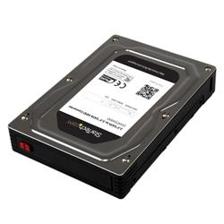 StarTech.com 2.5 to 3.5 SATA Aluminum Hard Drive Adapter Enclosure SSD  HDD Height up to 12.5mm