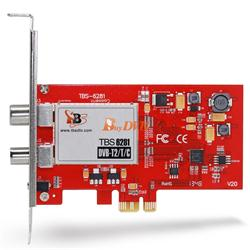 TBS Dual Freeview HD Lowprofile PCIe DVBT2 TV Tuner Card