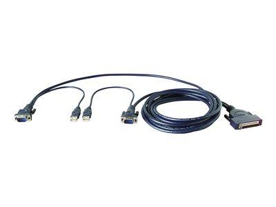 Belkin Omniview Ent Series Dual-Port USB KVM Cable 1.8m