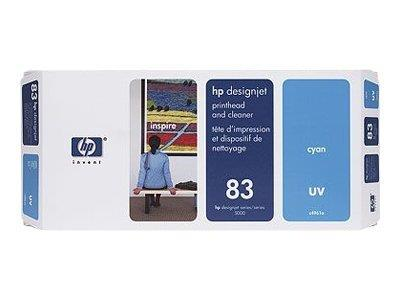HP 83 Cyan UV Printhead and Printhead Cleaner