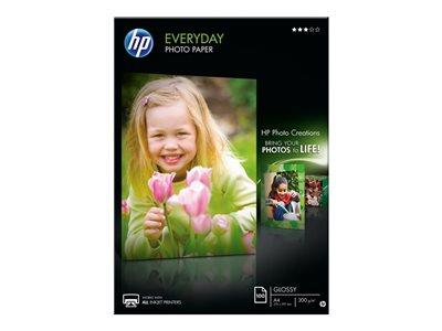 HP Everyday Glossy Photo Paper-100 sheet/A4/210 x 297 mm