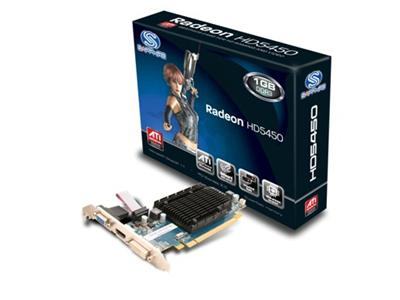 Sapphire Technology ATI Radeon HD 5450 650Mhz 1GB DDR3 PCI-Express DVI (Low Profile)