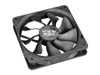 Akasa 120mm Black Apache Fan , PWM, Dust and moisture proof super silent fan, HDB Bearing