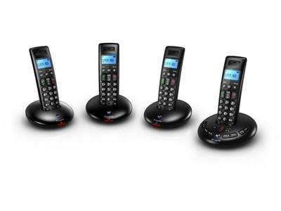 BT Graphite 2500 Quad Cordless Phone With Answer Machine