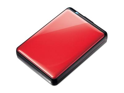 "Buffalo 1TB MiniStation Plus USB 3.0 2.5"" Portable Hard Drive (Slim / Shock Proof) Red"