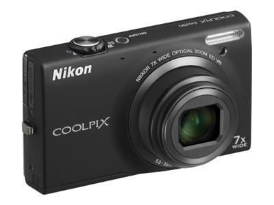 Nikon Coolpix S6150 - Digital camera - compact - 16.0 Mpix - 7x Optical Zoom - Black
