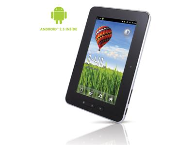 "Storage Options Scroll Essential 7"" Tablet PC with Android 2.3 and Resistive Touch-Screen"
