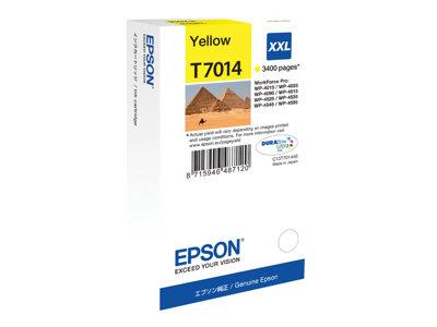 Epson Print cartridge - XXL - 1 x Yellow - 3400 pages - for WorkForce Pro WP4000/4500 Series