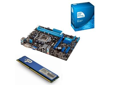 Asus P8H61-MX/SI, Intel Pentium DC G620 & 4GB DDR3 Value Bundle