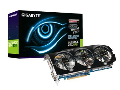 Gigabyte GeForce GTX 670 980MHz 2GB PCI-Express 3.0 HDMI Overclock