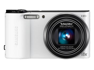 Samsung WB150 - Digital camera - compact - 14.2 Mpix - 18 x optical zoom - Schneider - white