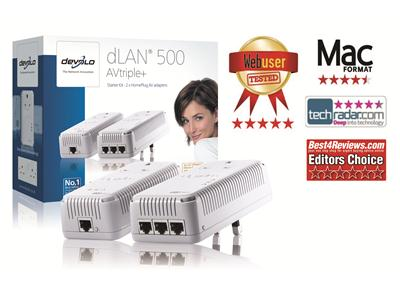 Devolo dLAN® 500 AVtriple+ Starter Kit
