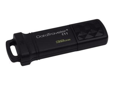 Kingston DataTraveler 111 - USB flash drive - 32 GB - USB 3.0