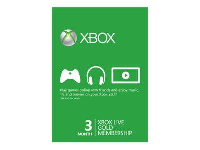 Microsoft Xbox Live Gold Membership - Subscription licence ( 3 months ) - 1 user - Xbox 360