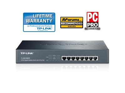 TP LINK 8-Port Gigabit PoE Switch with 4-Port PoE