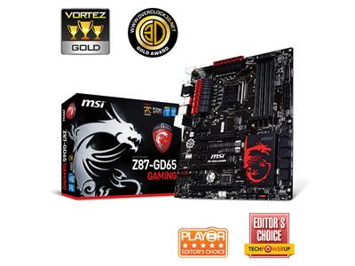 MSI Z87-GD65-GAMING S1150 Intel Z87 DDR3 ATX