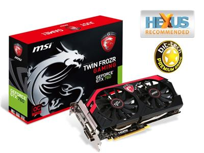 MSI GeForce GTX 760 1085MHz 2GB PCI-E 3.0 HDMI Gaming TwinFrozr OC