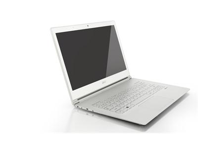 "Acer Aspire S7-391 Core i5-3337U 13.3"" Full HD 4GB RAM 128GB SSD Win8 - White Gorilla® Glass 2"