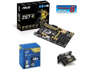 Asus 4th Gen Gamer Bundle (Inc Z87-K Motherboard, Intel Core i5-4670K, 8GB Vengeance Pro Black)